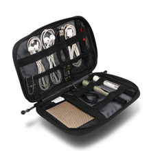 Organizer System  Digital DevicesStorage Bag Potable Small Size USB Cable Earphone Travel Collection Insert Kit Case Bag