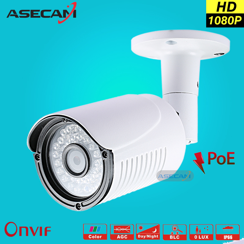 New HD 1080P IP Camera LED Infrared Night 48V POE Bullet Outdoor Waterproo Security Network Onvif Video Surveillance P2P Webcam poe hd 960p onvif h 264 p2p onvif security monitoring network ip camera infrared night vision outdoor waterproof security