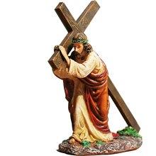 Смола Крест, распятие Статуя Иисуса Статуэтка христианская декорация для автомобилей аксессуары для интерьера подарок