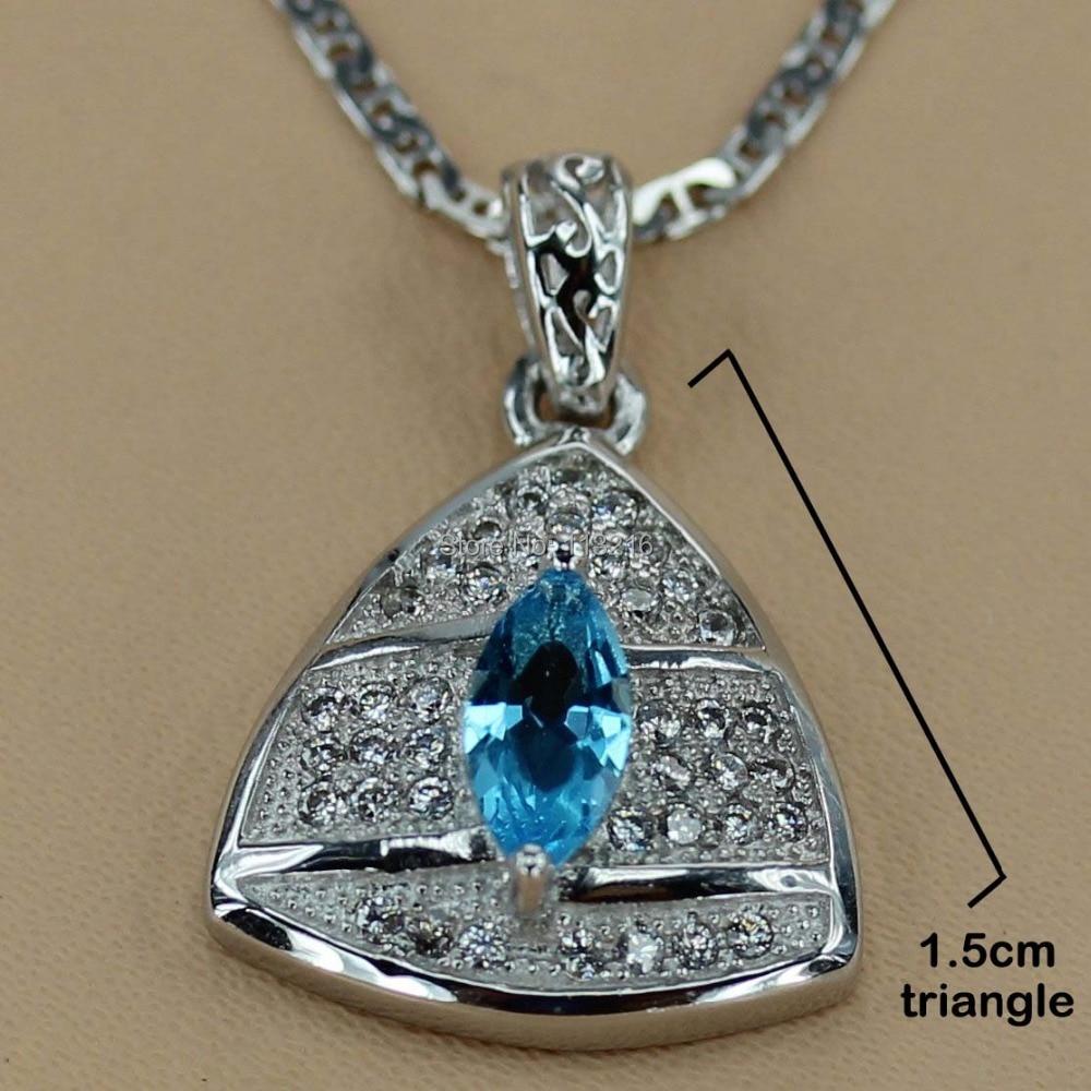 Romantic Fashion Jewelry Blue Cubic Zirconia Wholesale Silver Plated Promotion Favourite Hot Vintage beautiful Pendant R3107