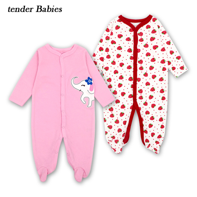 c89f4c7a0 2018 tender Babies Brand Baby girls boys Rompers Cotton Body suits ...