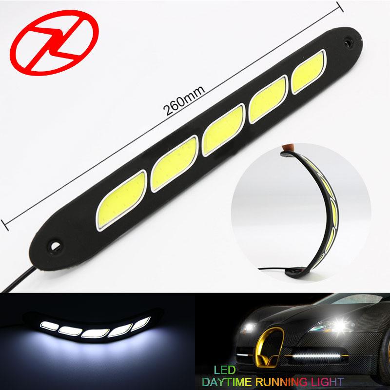 2PCS Saf Ağ LED Gündüz işləyən Yüngül Elastik DRL Suya - Avtomobil işıqları - Fotoqrafiya 1
