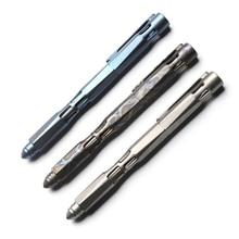 Два солнцезащитных титановых буровых стержня, тактическая анодная ручка, для кемпинга, охоты, на открытом воздухе, для выживания, практичные, для повседневного использования, многофункциональные ручки для письма, инструменты