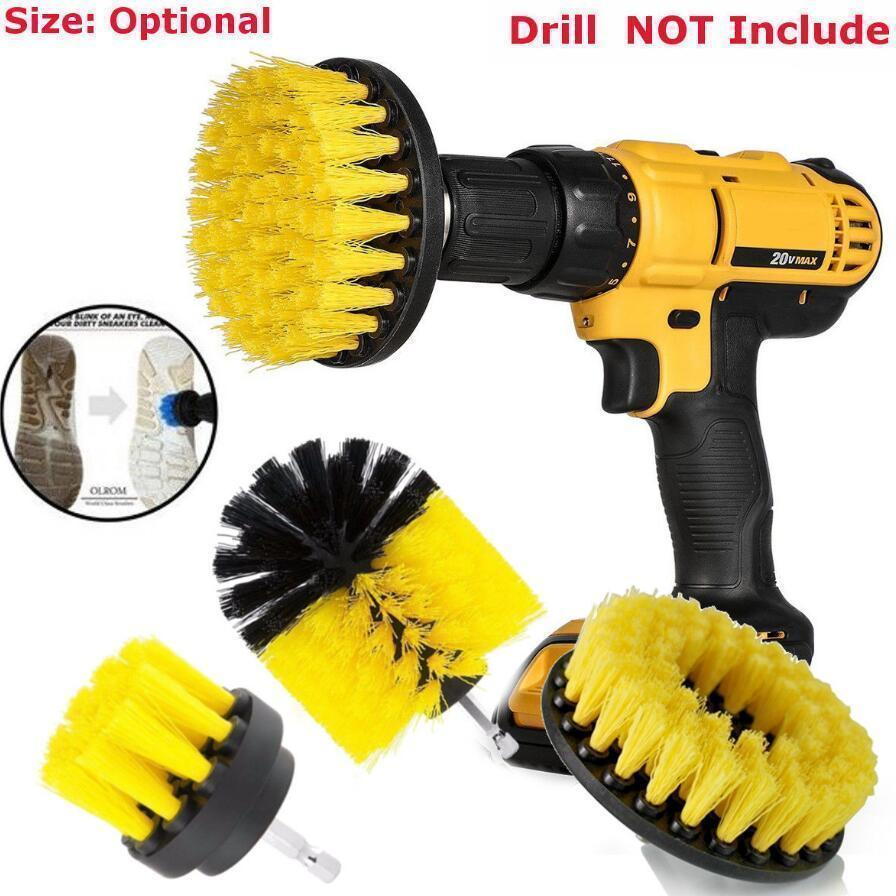 3pcs Power Scrubber Brush Set For Bathroom Drill Scrubber Brush For Cleaning Cordless Drill Attachment Kit