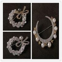 Luxury atmosphere micro inlay zircon brooch brooches accessories ladies coat sweater elegant pins