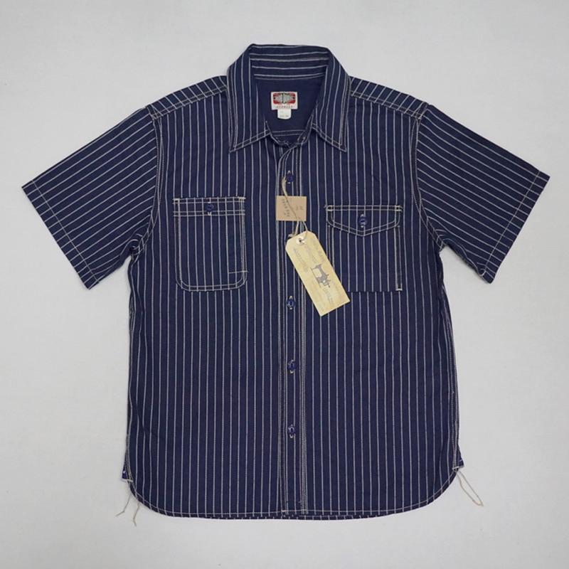 Bob Dong 30 s Wabash Striped Shirt Sommer Herren Kurzarm T shirt Lässig Dot Entladung-in Legere Hemden aus Herrenbekleidung bei  Gruppe 1