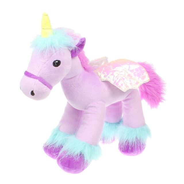 Purple Unicorn Sparkle Big Eyes 13 Unicorn Plush Toy With Wings