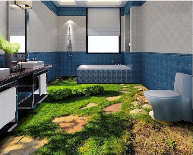 3d Fußbodenbelag Bad ~ Online shop 3d boden tapeten frische green grass pflanze