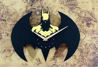 new 2019 Fashion DIY Wall Clock Batman 3D Wall Watch Cartoon Wall Clock Sticker Home Decor
