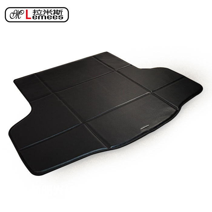ФОТО high quality waterproof carpets non slip easy clean rugs special car pu leather rear trunk mat for Sylphy Teana Tiida Qashqai