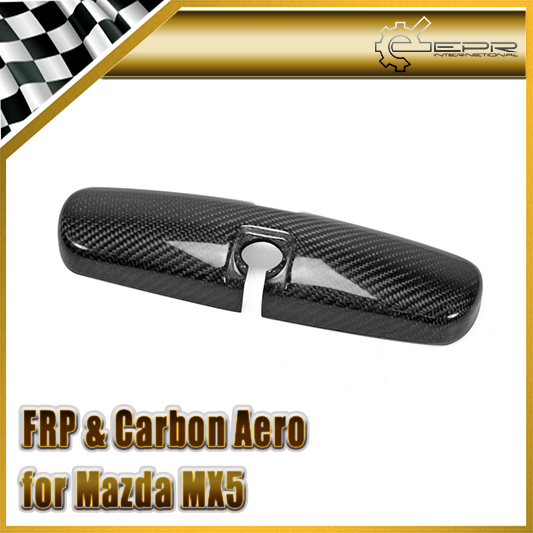 Car-styling For Mazda MX5 NA NB Carbon Fiber Rear View Room Mirror Cover In Stock