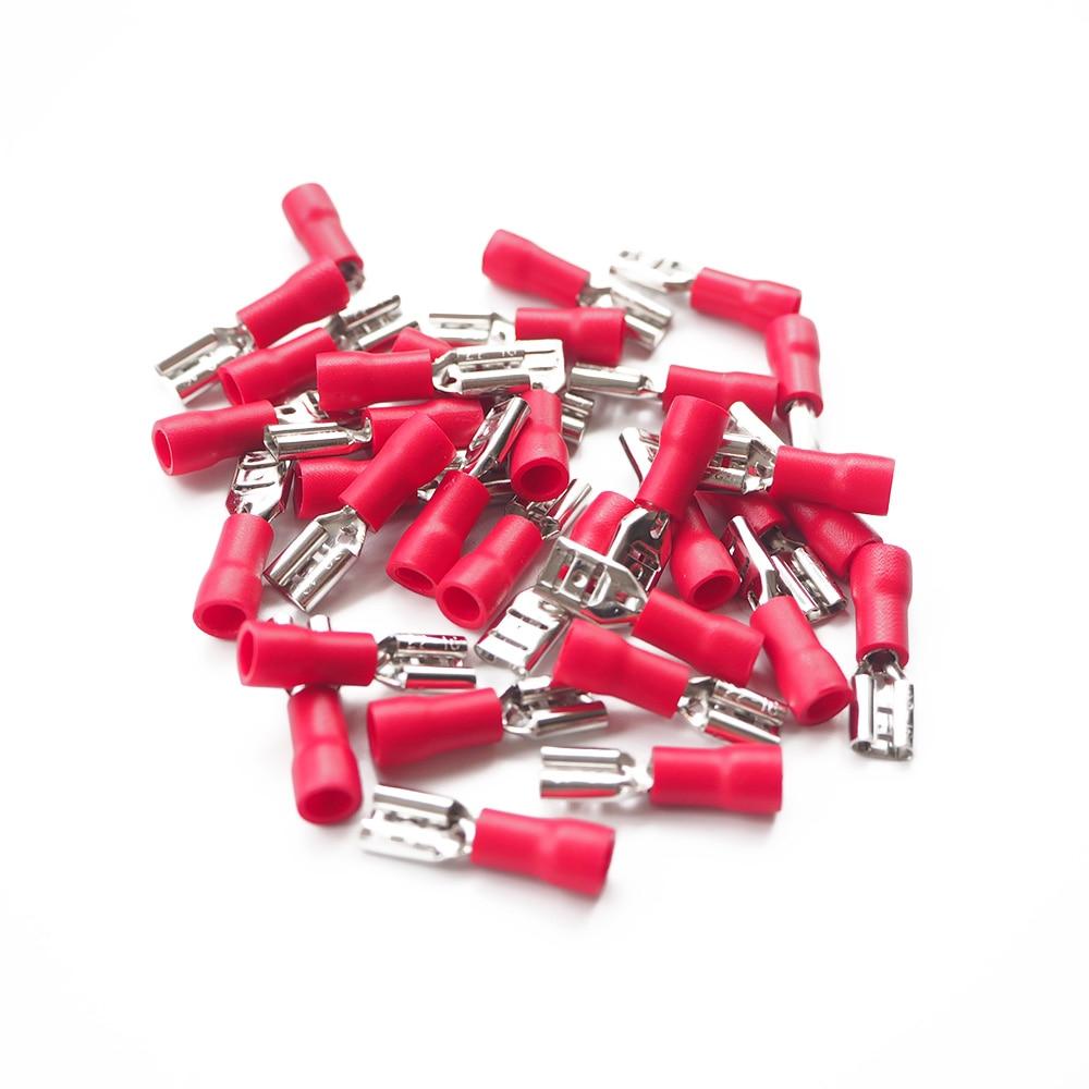 150X Female/&Male Spade Connectors Wire Crimp Terminals Set 2.8mm 4.8mm 6.3mm PB