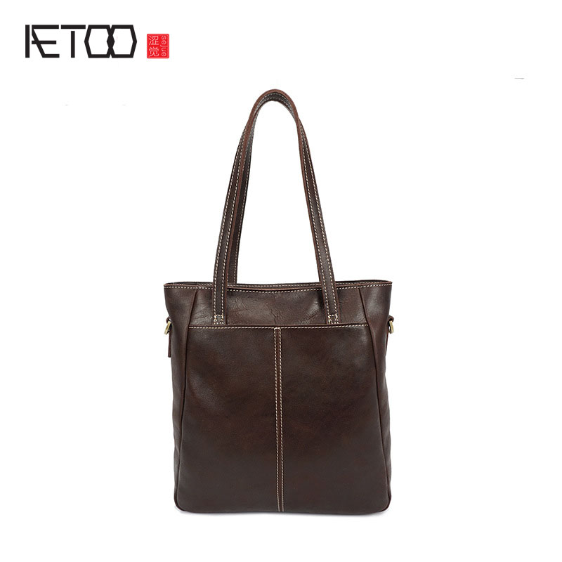 AETOO aceite bolso retro Británico de cuero ligero de Cuero sección vertical bolsa de Mensajero del bolso de hombro hombres de negocios de moda paquete