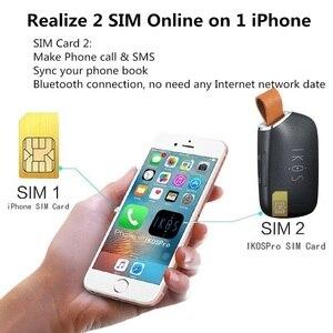 Adaptador de dos tarjetas SIM activo inteligente para iPhone, adaptador de tarjetas SIM duales Bluetooth para iPod y iPad