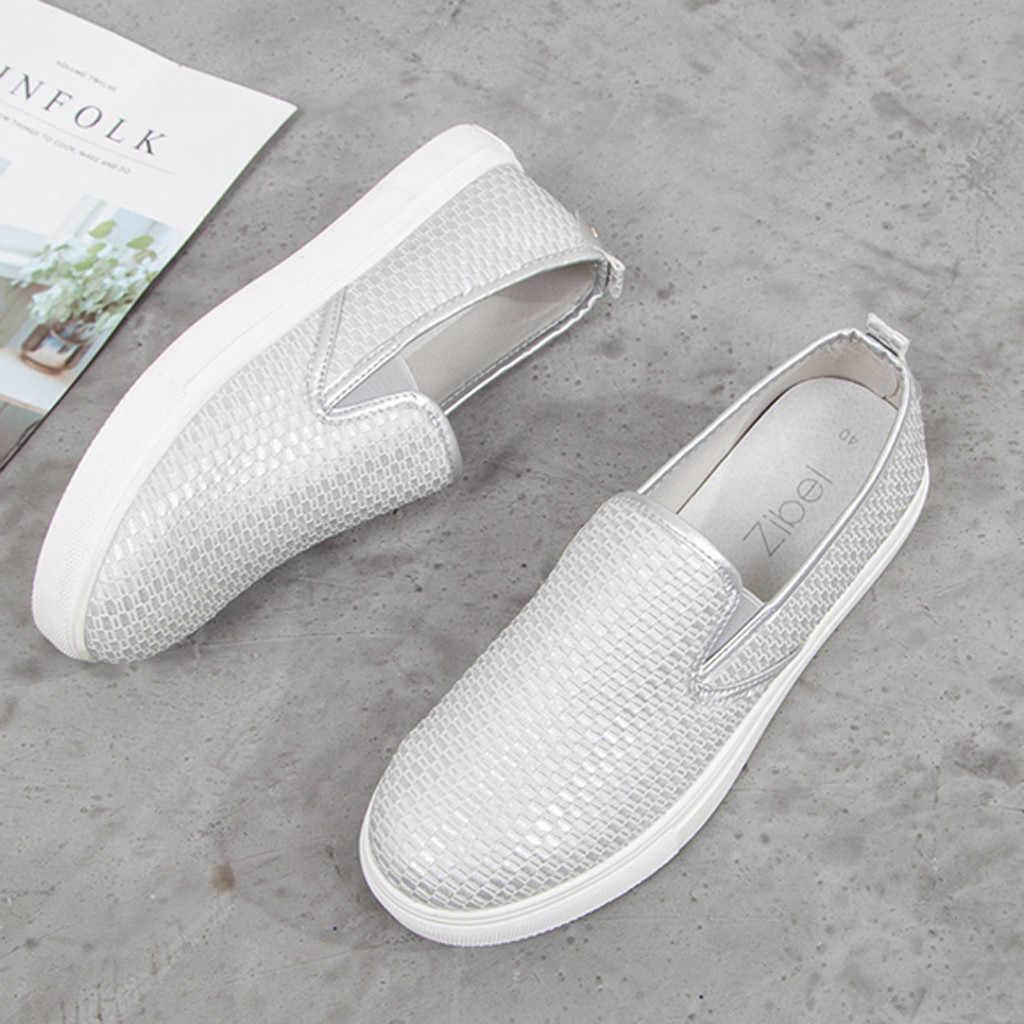 Mode Vrouwen Flats Luipaard Print 2019 Herfst Ondiepe Loafers Lederen Dames Casual Sneaker Platte Jong Streetwear Big Size Soft