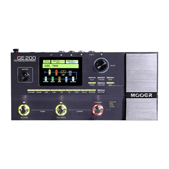 MOOER GE200 Amp моделирование и многофункциональные эффекты 55 высококачественных моделей усилителей аксессуары для педалей гитарных эффектов