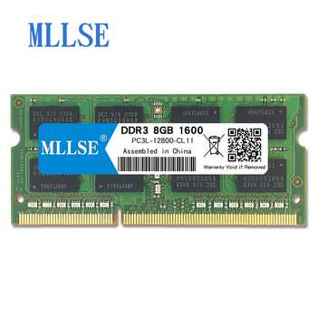 Mllse Laptop Sodimm Ram DDR3L 8GB 1600mhz 1.35V memory For notebook PC3L-12800S 204pin non-ECC Notebook RAM memoria - DISCOUNT ITEM  29% OFF All Category