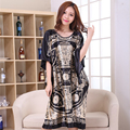 Hot Sale Black Female Satin Robe Dress Nightgown Novelty Women's Kaftan Bath Gown Summer Lounge Homewear Plus Size 6XL NB053