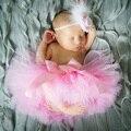 Da criança Do Bebê Recém-nascido Bonito Menina Tutu Skirt & Headband Foto Prop Costume Outfit