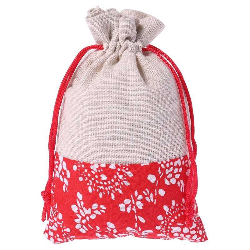 Bolsa de Armazenamento De Cordão de Linho de algodão Feito À Mão Jóias Favores Do Casamento Saco Do Presente