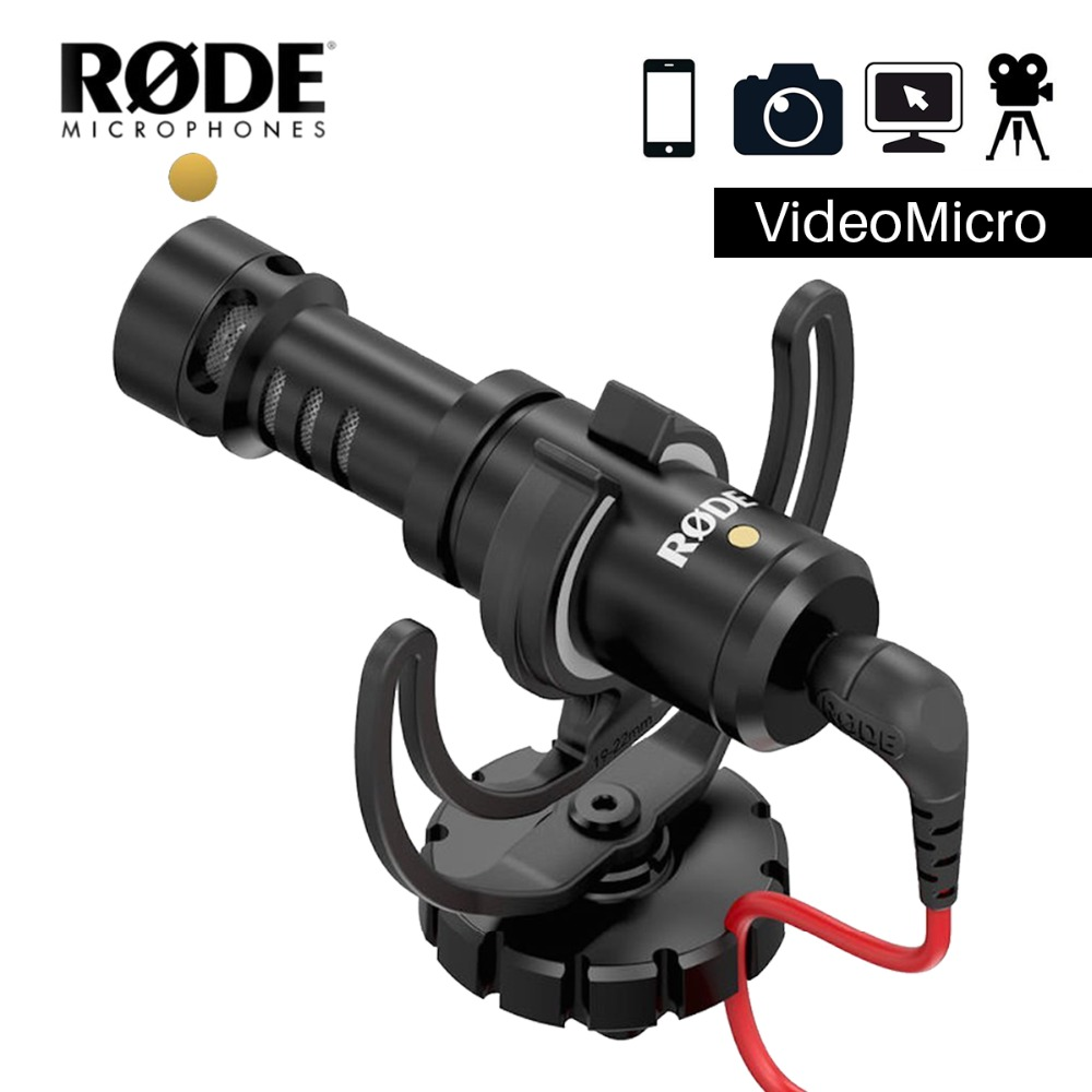 Rode VideoMicro Recording Microphone Interview Microfone with Deadcat for Canon Nikon DSLR Camera for iPhone Zhiyun