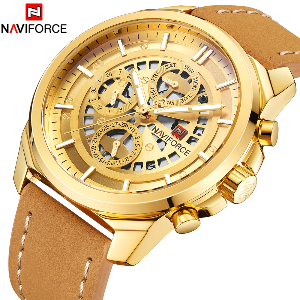 2018 New Fashion Luxury Brand NAVIFORCE Men Army Military Watches Men's Quartz Clock Man Sports Wrist Watch Relogios Masculino luxury brand pagani design waterproof quartz watch army military leather watch clock sports men s watches relogios masculino