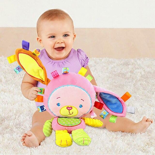 5 estilos bebé sonajeros juguetes apaciguar muñeca Animal de la felpa mano campanas recién nacido niños niñas elefante de Juguete/Mono/ conejo suave regalos de