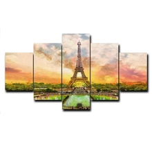 Paris Tower City Posters and Prints Modular Wedding Decoration Wall Art Calligraphy Abstract Canvas Painting