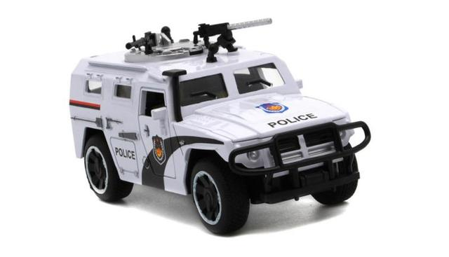 1/32 Police SWAT Car Model Pull Back Toy Car Metal Vehicles With Sound Light Toys for Children