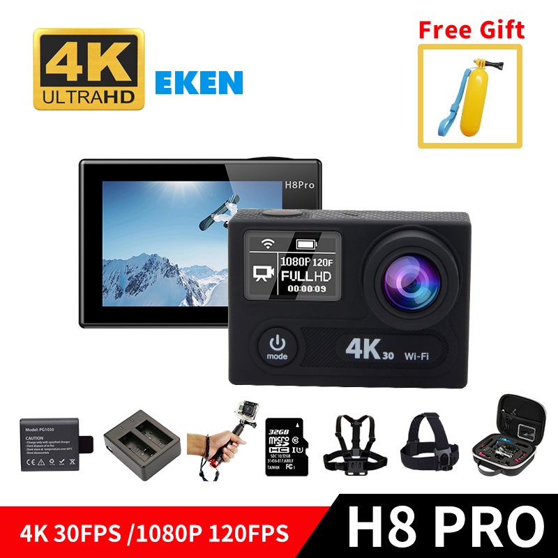 EKEN H8 PRO Ultra HD 4K WIFI Action Camera with Ambarella A12 chip 2.0' Screen 4k/30fps 1080p/120fps go h8pro sportS DV Camera action camera deportiva eken v8s ultra hd 4k ambarella a12 wifi electronic image stabilization go waterproof pro sport dv camera
