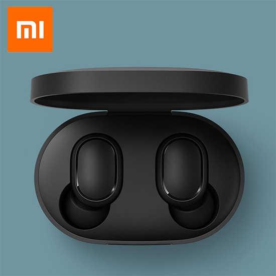 Xiaomi Redmi Airdots TWS Беспроводные Bluetooth 5,0 наушники стерео бас с микрофоном громкой связи Спорт шумоподавление беспроводные наушники