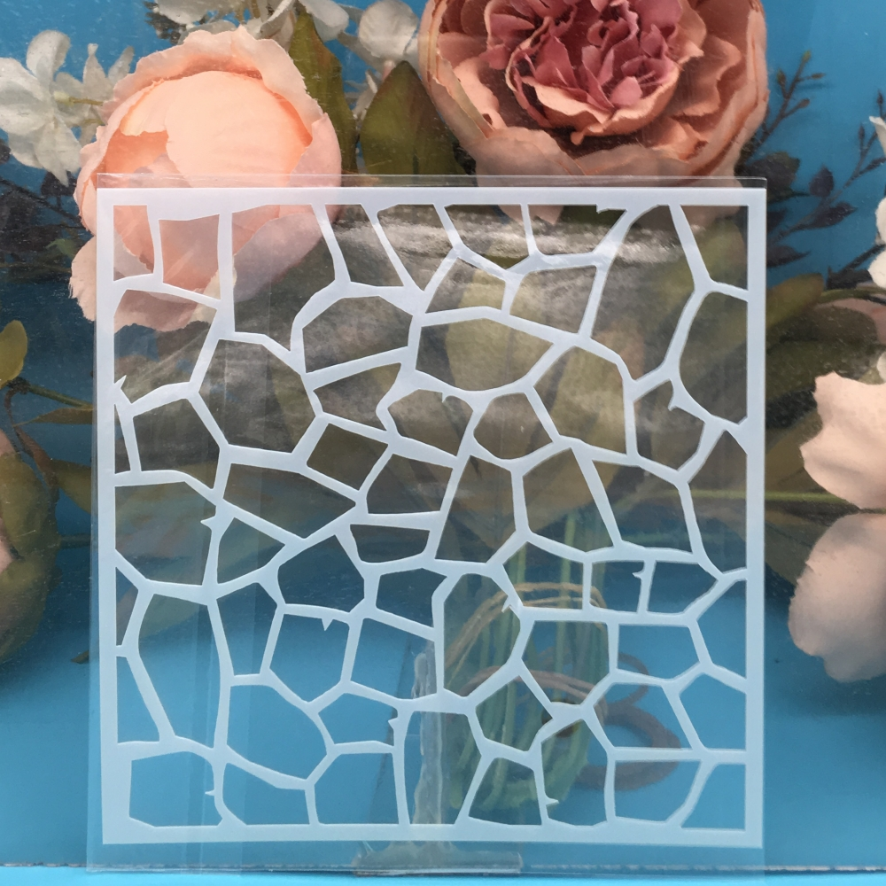 1Pcs 13cm Mosaic DIY Craft Layering Stencils Wall Painting Scrapbooking Stamping Embossing Album Paper Card Template F5170-3