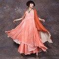 Женщин Траншеи Сплошной Цвет Старинные Верхняя Одежда Без Рукавов Хлопок Белье Траншеи Пальто Для Женщин Случайные Свободные Длинное Пальто Летом