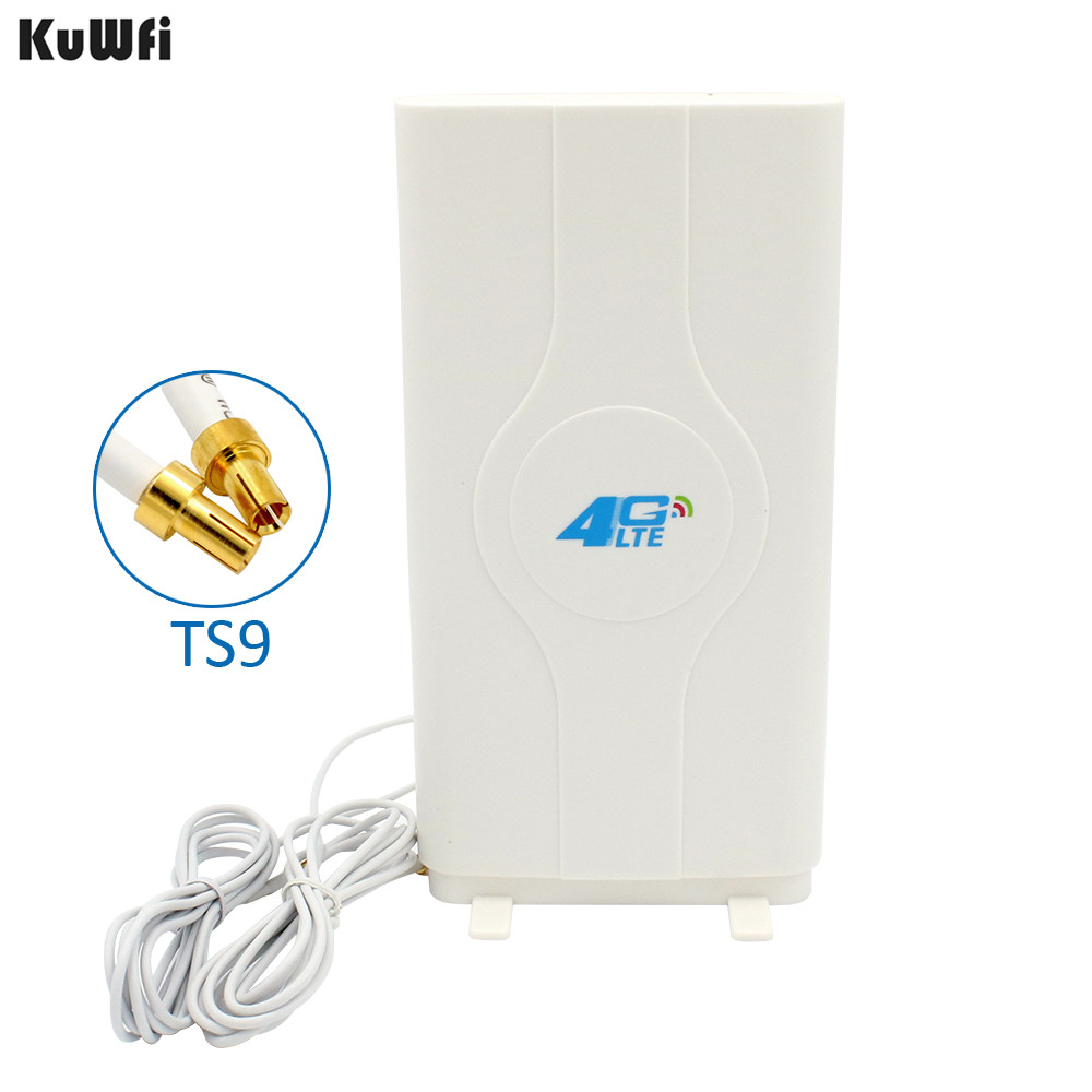 700 2600MHz 3G 4G LTE External Panel Antenna TS9 Connector and 2 meter cable for 3G 4G Huawei router modem-in Computer Cables & Connectors from Computer & Office