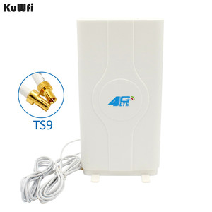 Image 1 - 700 2600MHz 3G 4G LTE External Panel Antenna TS9 Connector and 2 meter cable for 3G 4G Huawei router modem