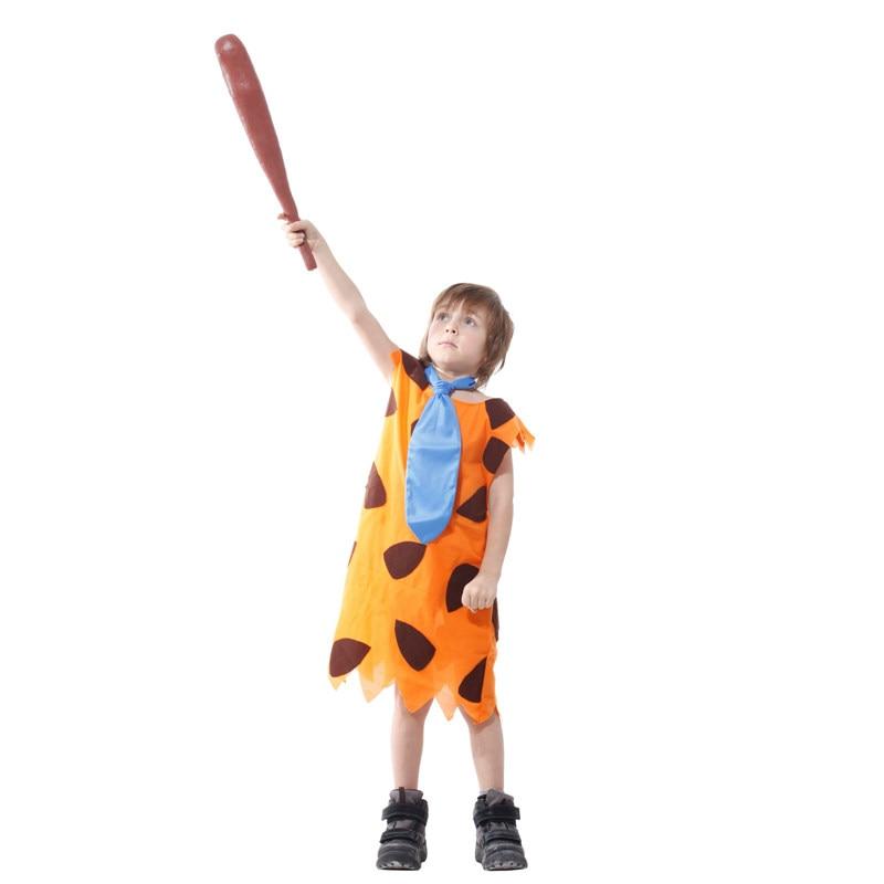 Kids Child Stone Age Indian Boy Flinstones Costume Primitive Savages Cosplay Halloween Carnival Party Mardi Gras Fancy Dress 3