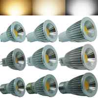 Bombilla LED GU10 COB regulable 2700K 6500K, blanco cálido, 3W, 5W, 7W, E27, E14, GU5.3, MR16, reemplaza la lámpara halógena de 55w/65w/85w