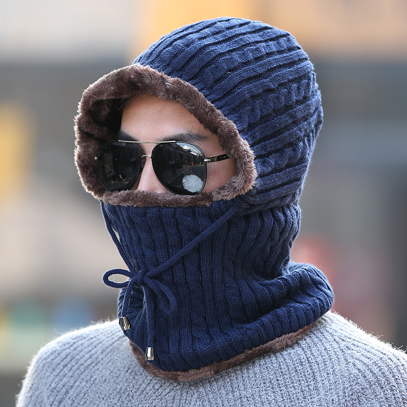 Balaclava Winter Hats For Women Men   Skullies     Beanies   Riding Windproof Mask Ear Protect Thick Warm Knitted Cap Female Male