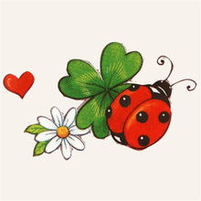 T shirt heat transfer printing 50mm red ladybug pvc patch for clothes iron on transfer patches for clothing flower 3d stickers(China)