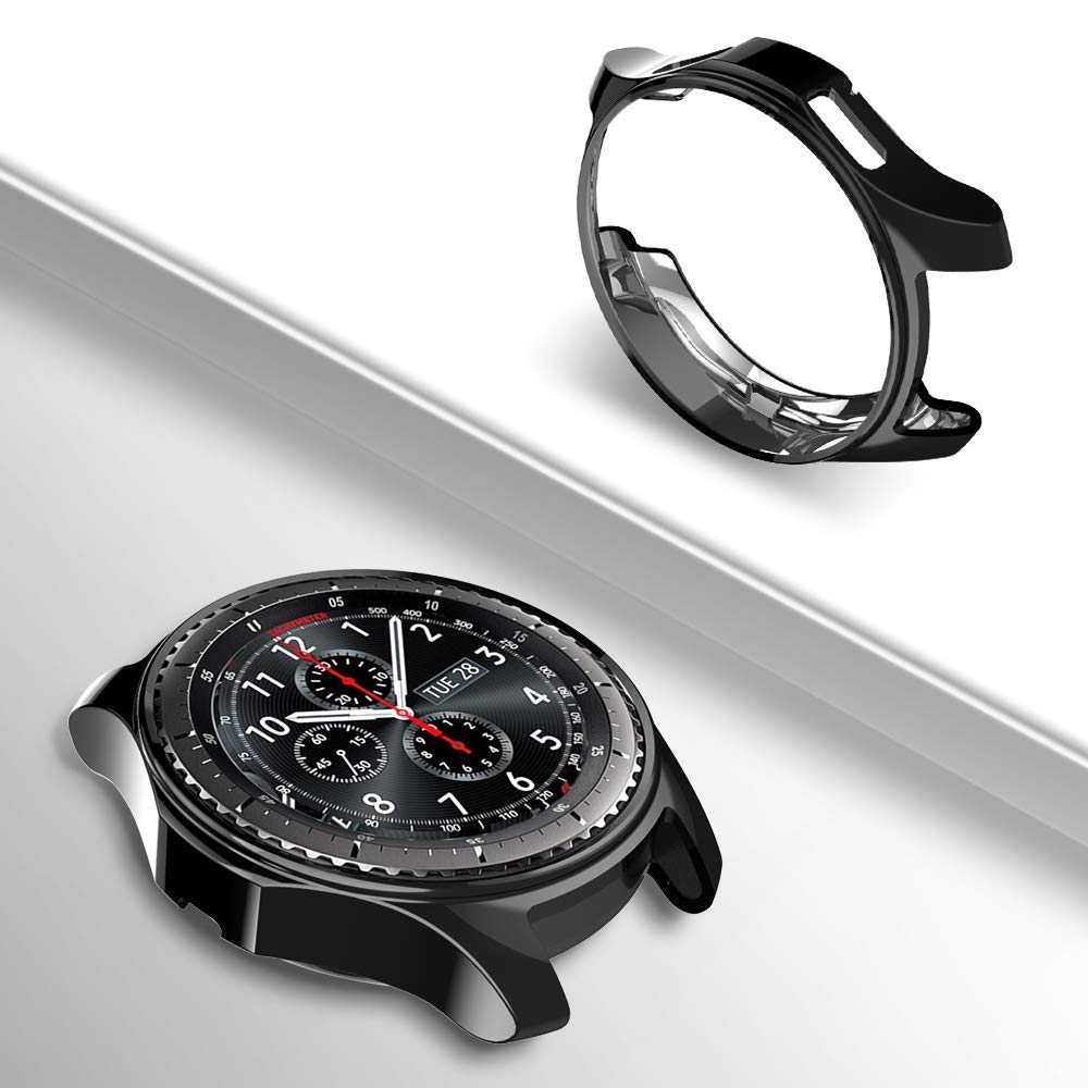 Gear S3 frontier For samsung Galaxy Watch 46mm 42m case strap reloj cover soft TPU plated All-Around protective case shell frame