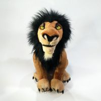 Sitting height 34cm 13.38'' The Lion King Exclusive Big Size Deluxe Plush Toy Figure Scar Stuffed animal doll