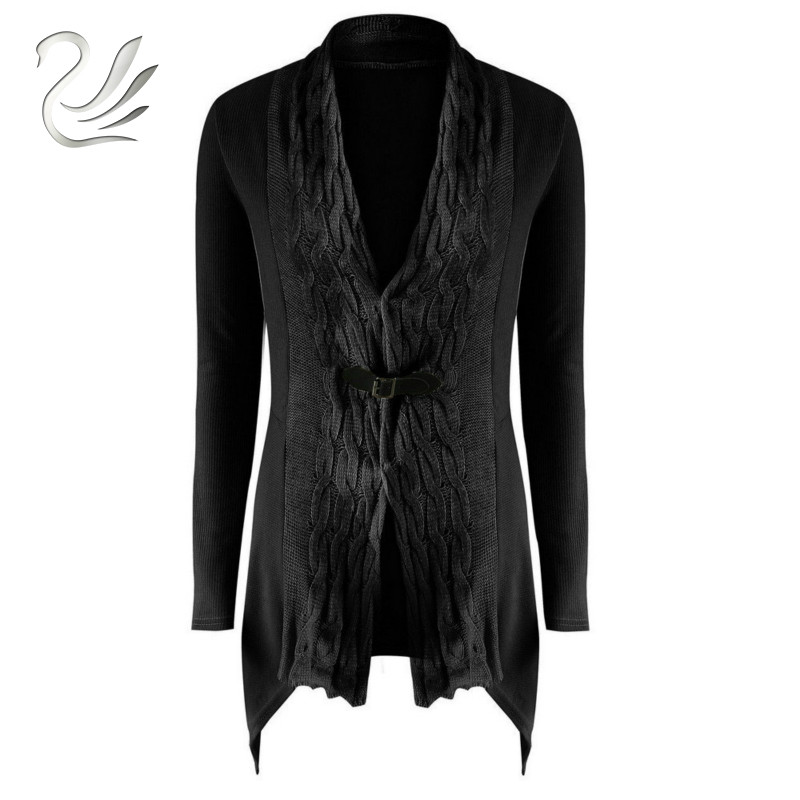 Autumn Winter Women Sweater 2018 Fashion Casual Irregular Long Sleeve Knitted Sweater Cardigan Coat Outwear Pull Femme