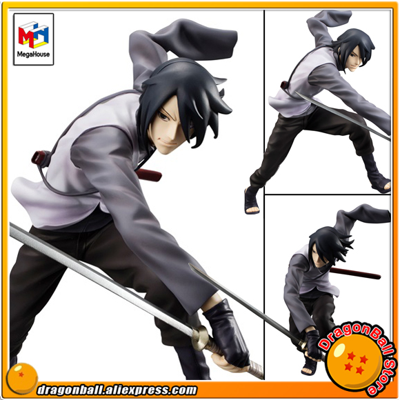 Japan Anime BORUTO -NARUTO THE MOVIE- Original MegaHouse G.E.M. Complete Figure - Uchiha Sasuke