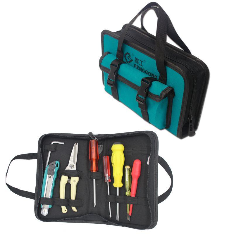 Mechanics Hardware Toolkit Handbag Waterproof Oxford Cloth Multi Fix Straps Organize Pockets Storage Pouch Electrician Worker