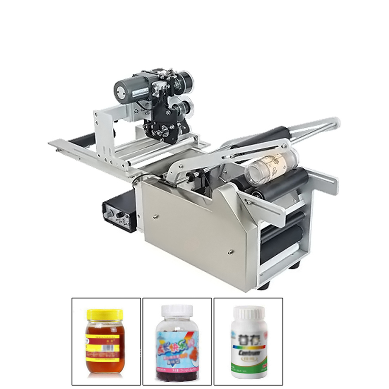 KC-50 Plus Semi-auto Round Bottle Labeling Machine Labeler With Coder Date Printing Printer Packing Machine high speed round bottle beer bottle labeling machine with label marking machine date code printer