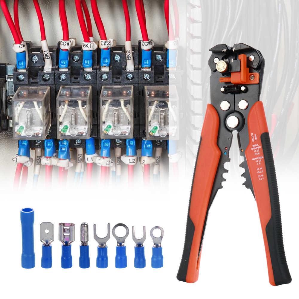 Клемма для электрического провода комплект с 5-в-1 автоматический инструмент для зачистки проводов щипцы плоскогубцы и 400 шт. разъемы простой и эффективный