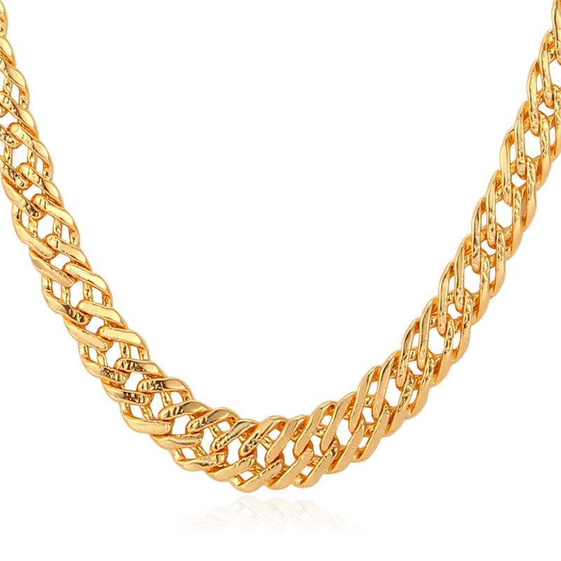 Aliexpress.com : Buy Kpop Chain Men Necklaces Gold/Rose Gold ...