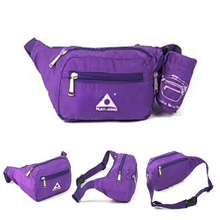 Outdoor Ultralight Foldable Waist Bag Water Resistant Adjustable Waist Belt Fanny Pack Cell Phone Holder Bag for Men Women