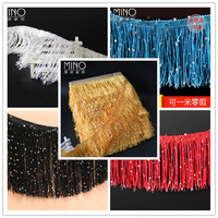 100 Yards 10 CM Long Polyester Fringed Edge Trim African Lace Ribbon Diy Latin Dance Clothes Stage Clothes Accessories Curtains