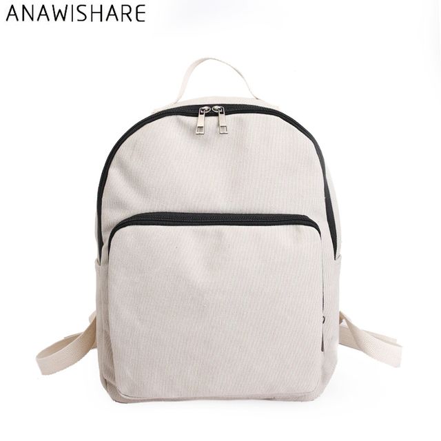 845777d1a4 ANAWISHARE Women Canvas Backpacks Rucksack School Bags For Teenagers Girls  Bookbags Shoulder Bags Travel Bags Mochila Escolar